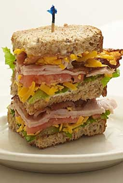 Double Decker Turkey Club Sandwich